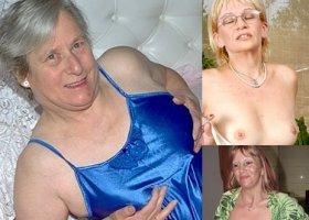 die oma nackt